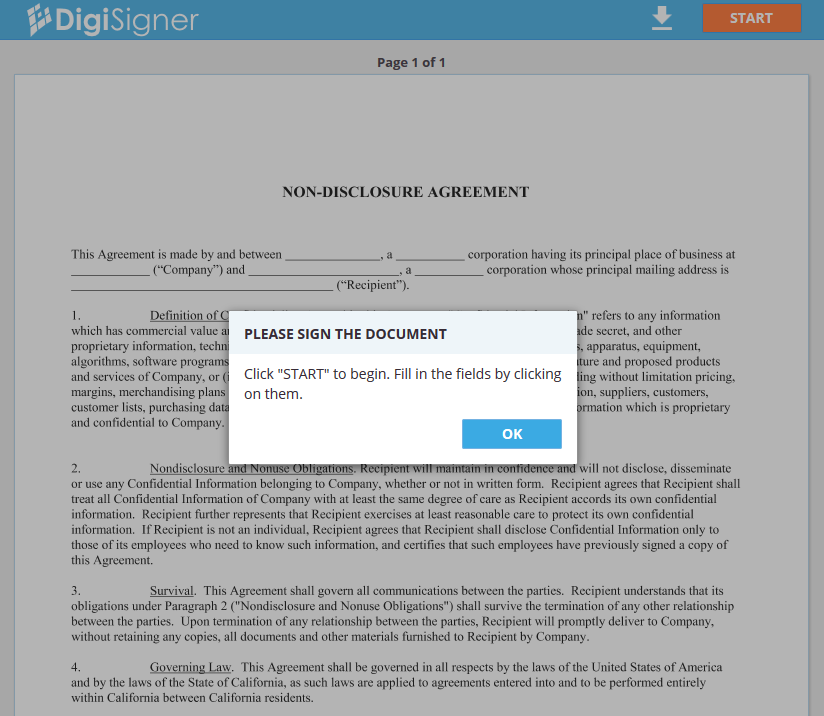 Document in Browser