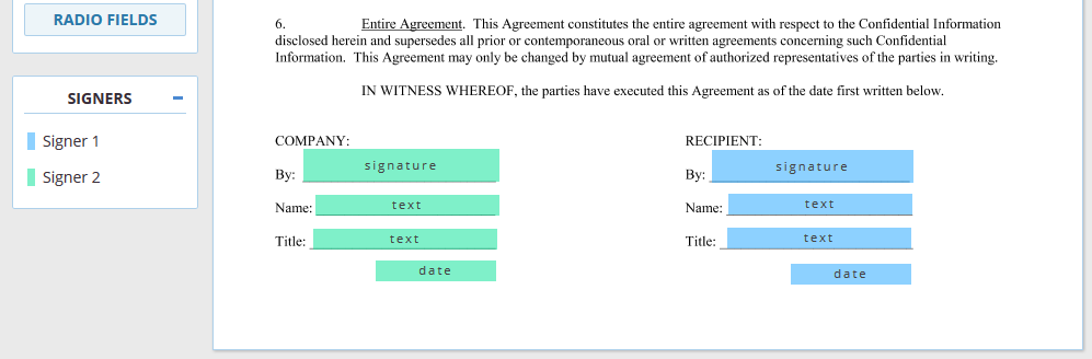 Fields for Multiple Signers