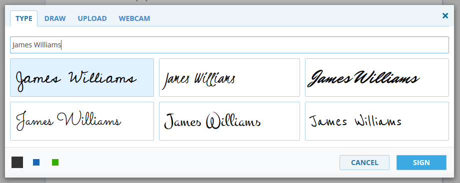 How to type your signature via DigiSigner