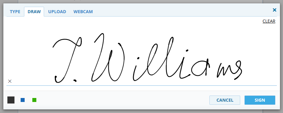 How to draw your signature via DigiSigner