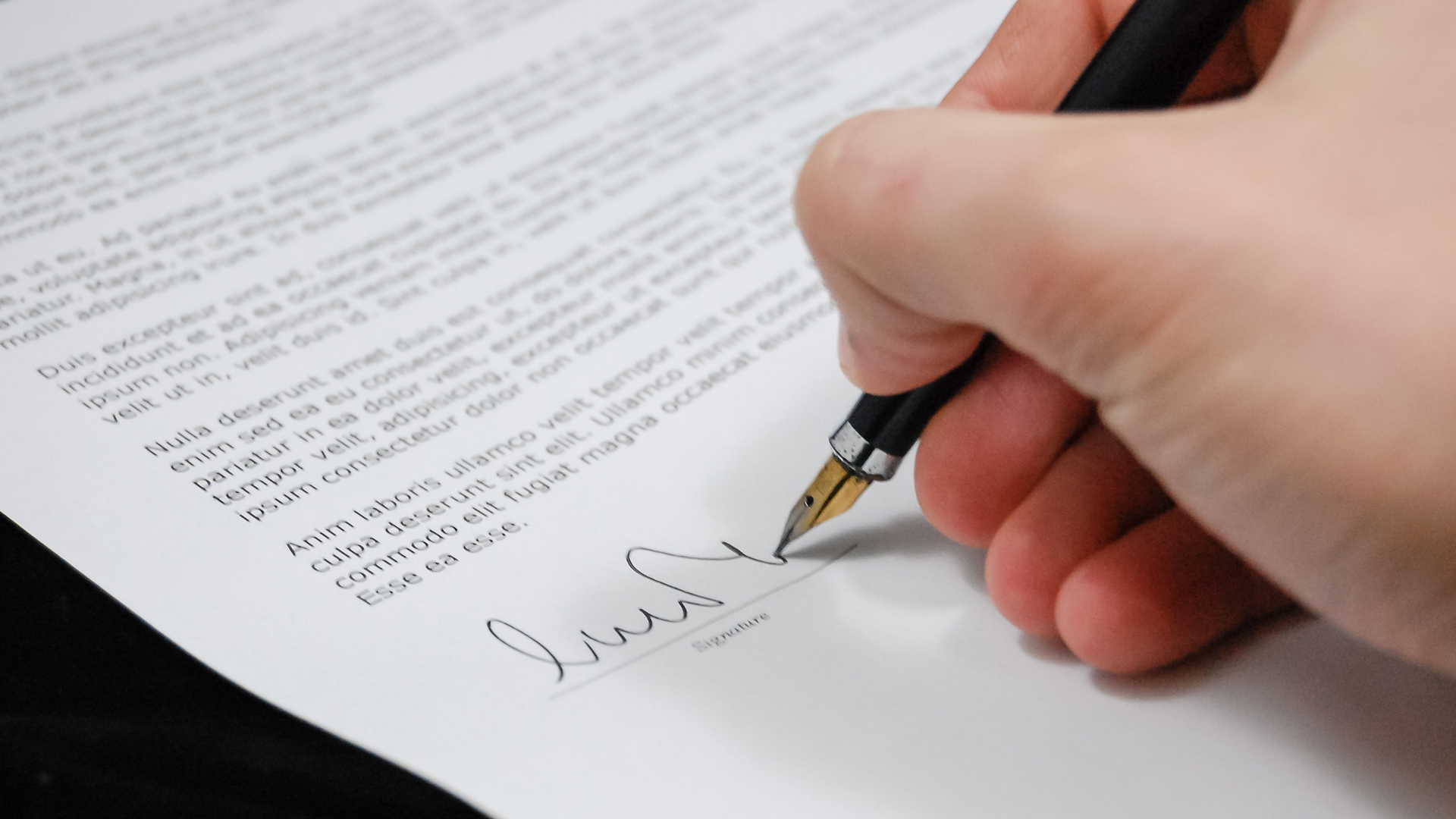 Electronic signature document for HR