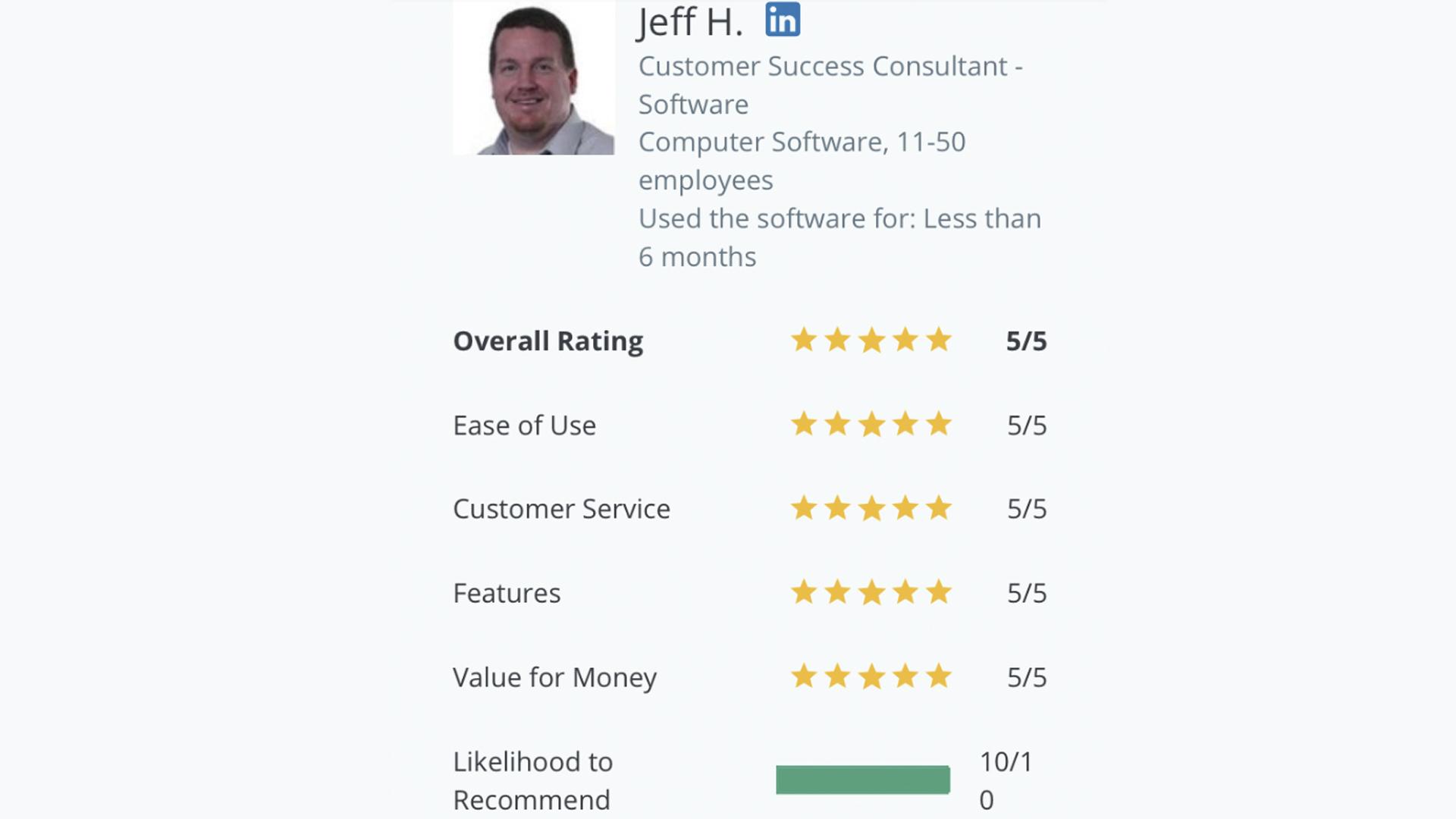 Jeff Capterra review for DigiSigner