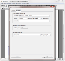 Configure Advanced Settings